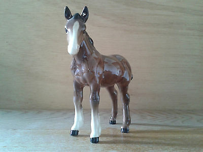 Early 1960s Beswick Small Shire Foal 1053 Brown Gloss in Excellent Condition