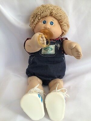Cabbage Patch Kid, Vintage, With Outfit & Pacifier. OK Factory, 1985