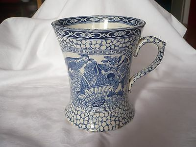 Antique Adams Staffordshire.oriental Style Blue And White Large Mug. Perfect