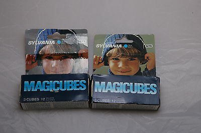 Lot of 2 x 3 Sylvania MAGICUBES For 110 & X-Type Cameras - 24 Exposures Total