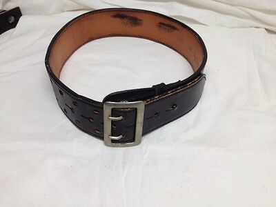 Don Hume Size 26 Black Leather Belt  with Buckle