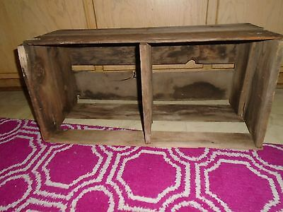 Vintage Wooden Wood Box Crate Box