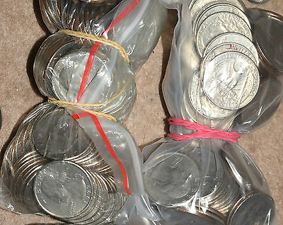 USA: $20 Dollars in coins USD... 80 x 25 Cents - Quarters. Change - Toll. Tip