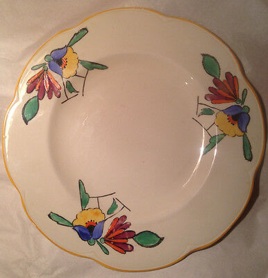 Woods Ivory Ware, Art Deco, Hand Painted Plate