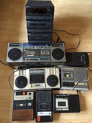 joblot electrical Tape Records / Stereos / Stack Systems/and Radios Spare&repair