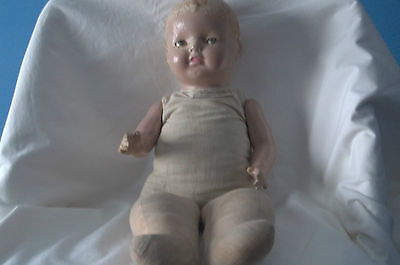 baby doll 1930's composition head arms softbody feet eyes open close