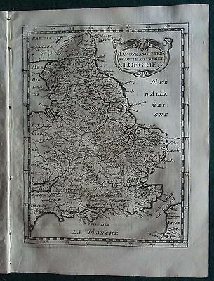 1648 Briet Copper Engraved Atlas Map Of Wales & England (Loegrie)
