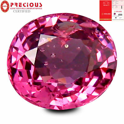 1.84 ct PGTL Certified World class Oval (8 x 7 mm) Un-Heated Ceylon Pink Spinel