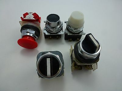 5 Industrial Selector Switch and Pushbuttons - Check Photos