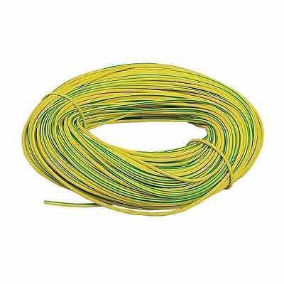 PVC EARTH SLEEVING GREEN YELLOW 2 3 4 5 6mm ELECTRICAL SOCKET LIGHTS WIRE CABLE