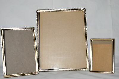 lot of 3 vintage metal picture frames 8 x 10 5 x 7