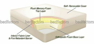 """12"""" Memory foam mattress Double 4ft6 12inch UK manufatured removeable cover"""