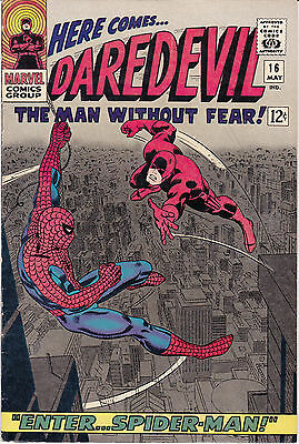 Daredevil 16 - Spiderman App (Silver Age 1966) - 7.5