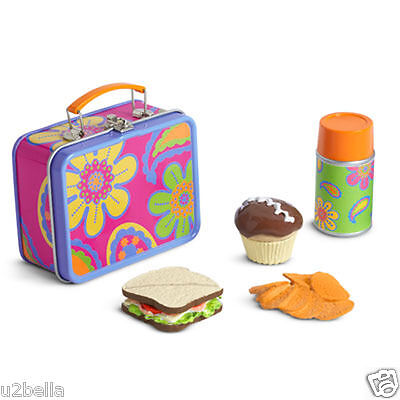 American Girl Julie's School Lunchbox Lunch Box Cupcake Thermos BEFOREVER NEW