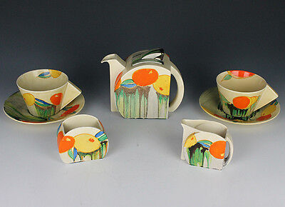 Clarice Cliff  Delicia Citrus Stamford Tea For Two