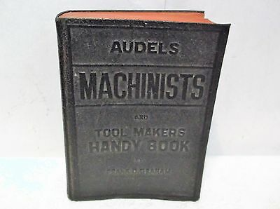 Audels Machinists & Tool Makers Handy Book 1941 By Frank Grahm Machine Shop