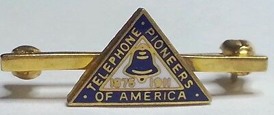 Vintage Gold-Filled GF 'Telephone Pioneers of America 1875-1911' Lapel Pin