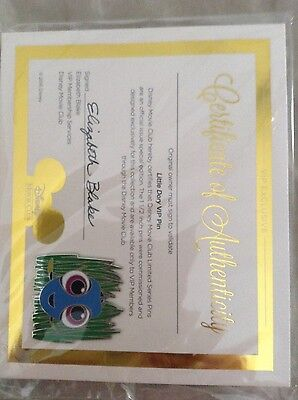 Brand New Disney Limited Edition Finding (Little) Dory Vip Pin! With Certificate