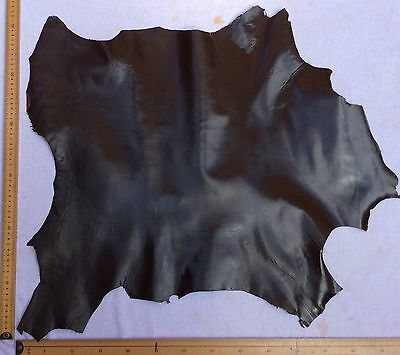 Real Italian Whole Leather Hide/Skin Dark Brown Leather approx 60x60cm
