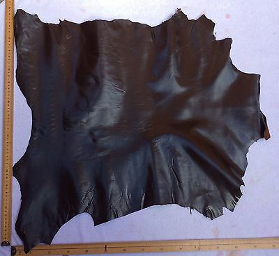 Real Italian Whole Leather Hide/Skin Dark Brown Leather approx 70x70cm