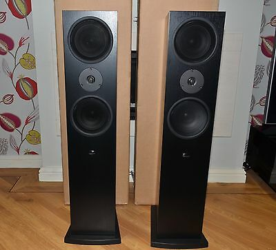 Linn Ninka loudspeakers in black ash. Boxed and in excellent condition.