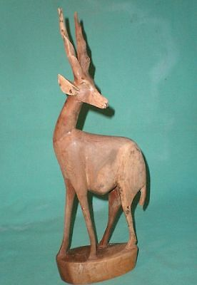 wooden hand carved antelope/eland figurine/Art Deco/Collectables