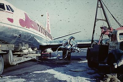 Kodachrome 35Mm Slide Capital Airlines Crashed Plane Midway Airport Tow Truck