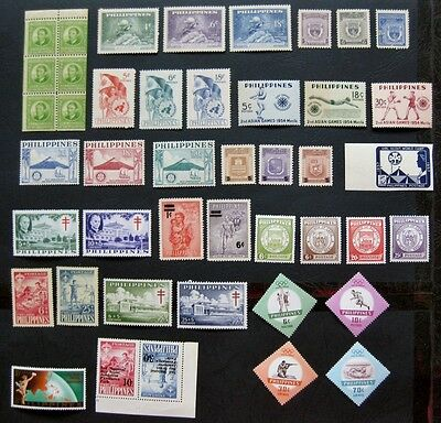 Philippines 1941 to 1961: Collection of Mint Stamp Sets
