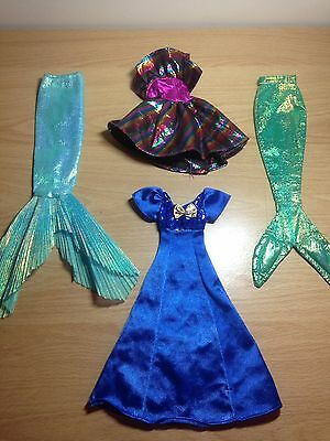 Original Barbie 90's Vintage Clothes And Accessories Bundel