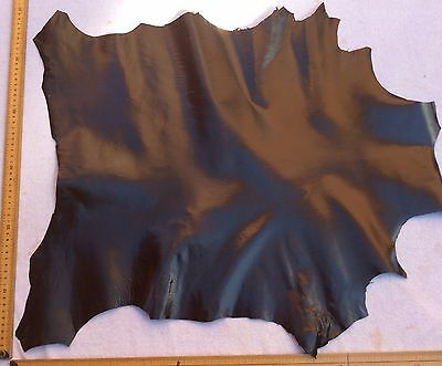 Real Italian Whole Leather Hide/Skin Dark Brown Leather approx 60x55cm