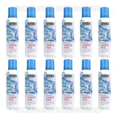 12 x Beauty Formulas Body & Face Cooling Mist Spray Water Cool 12 Pack 150ml