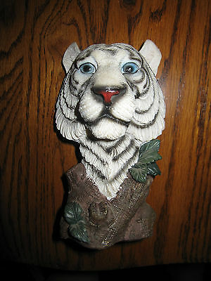 Siberian White Tiger Statue Figurine Made of Resin