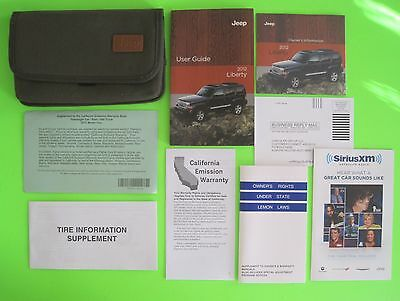 2012 Jeep LIBERTY User Guide Owner's Manual Set & Case *OEM*