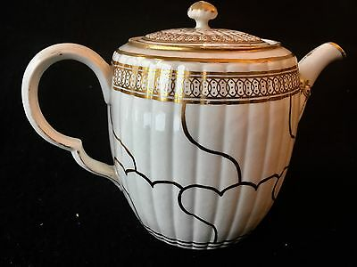Worcester James Giles Gold Queen's Pattern Teapot  C 1775 Like Derby , Caughley