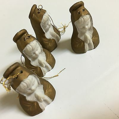 Vintage Ardalt Hand Painted Angel Bells Christmas Ornaments Japan Lenwile China