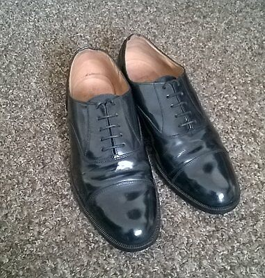 Mens M & S Black Leather Oxford Shoes UK 8 - EURO 42