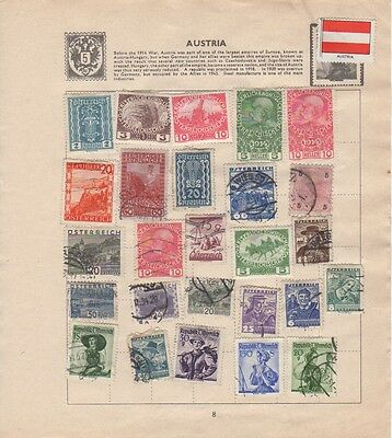Collection of 38 x Austrain stamps