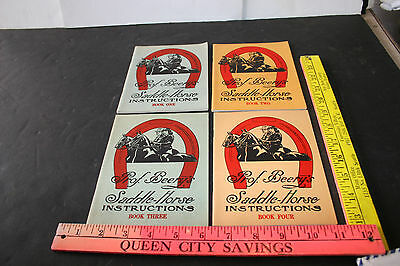 Vintage Lot of 4 Prof. Beery's Saddle-Horse Instructions Books 1944