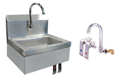 Stainless Steel Wall-Mount Hand Sink with Knee Valve and Faucet