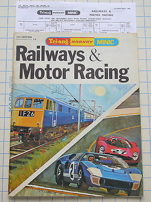 HORNBY 1968 CATALOGUE (14th EDITION) & PRICE LIST 01.01.68 !!! EXCELLENT !!!