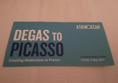 Ashmolean Museum Oxford Exhibition Tickets. DEGAS TO PICASSO.