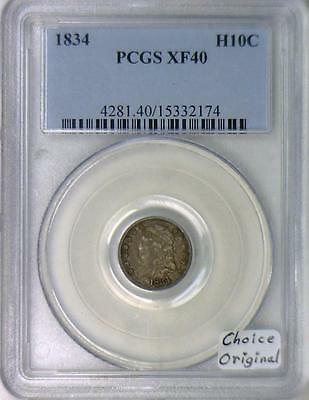 1834 Half Dime PCGS XF-40; Choice Original!