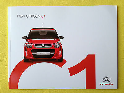 Citroen C1 paper brochure & spec list sales catalogue June 2014 MINT