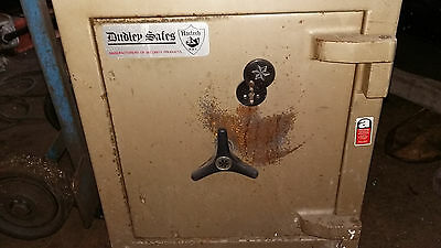 Small Dudley safe with key