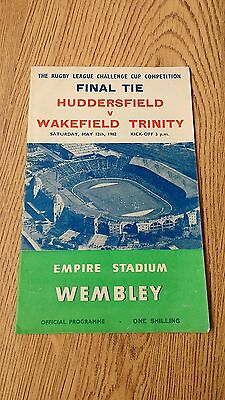 Huddersfield v Wakefield 1962 Rugby League Challenge Cup Final Programme
