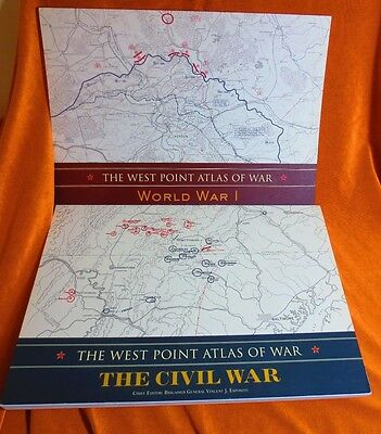 West Point Atlas Of War with commentary  Civil & World War I    2 Atlas
