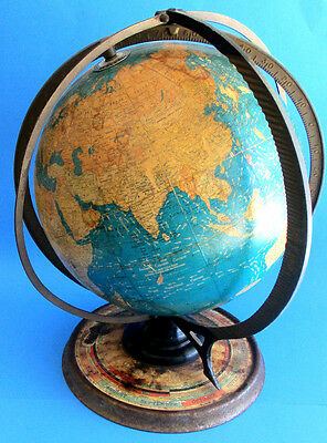 "1936 Circa Gram's Deluxe World Globe 12"" Daily Sun Ray-With Season Indicator"