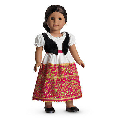 NEW Retired American Girl Josefina's Dress & Vest Shoes Outfit for 18-inch Dolls