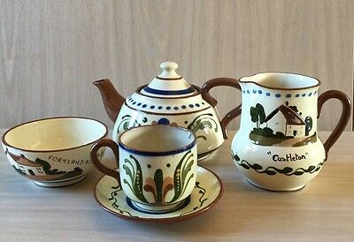 Vintage Torquay Motto Ware Tea Set For One