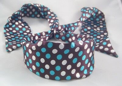 Wholesale Closeout Case of 300 Turquoise & White Polka Dot Brown Headbands